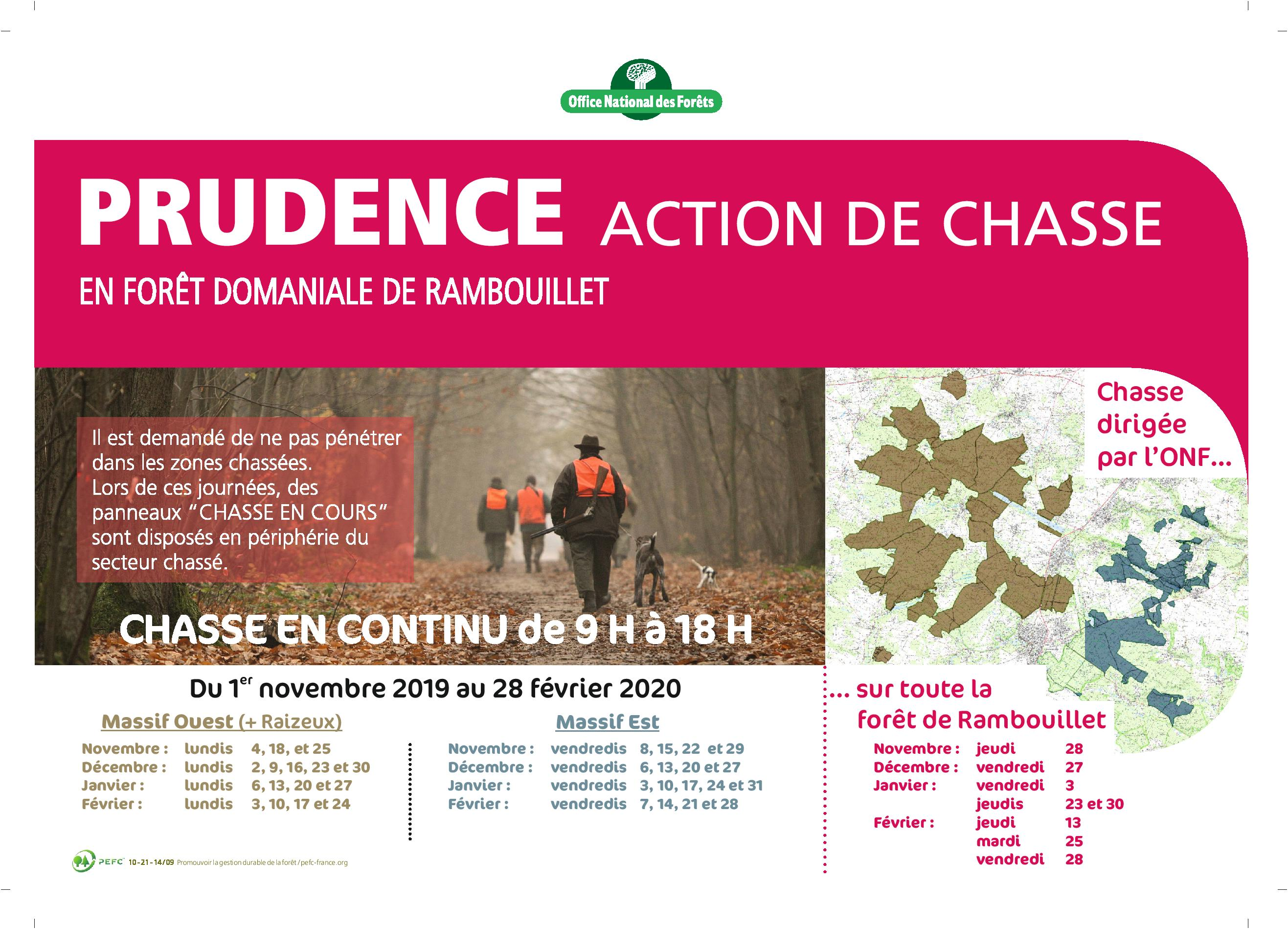 chasse 2019 2020 Rambouillet